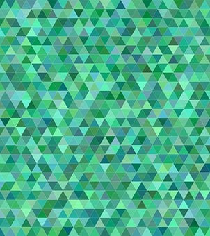 Teal, Green, Triangle, Mosaic, Tile, Low Poly, Tones