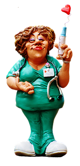 Nurse, Figure, Funny, Valentine's Day, Decorative, Love
