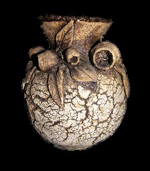 Pottery, Textured, Vase, Australian, Gum Nuts