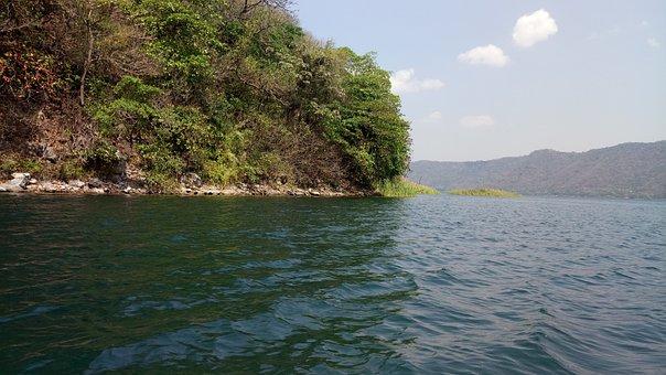 Lake, Island, Water, Coatepeque, El Salvador, Beauty