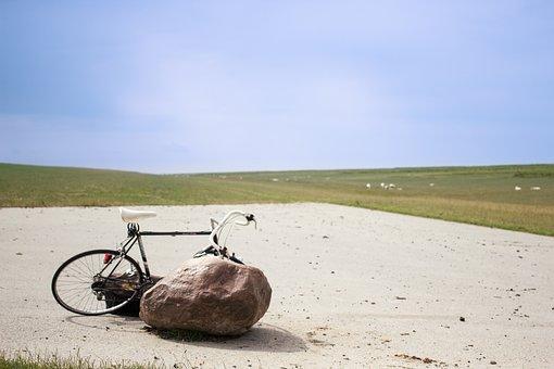 Wheel, Bike Ride, Rock, Dike, Summer, Cycling, Bike