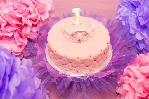 Birthday Party, Celebration, Cake, Child, Colorful