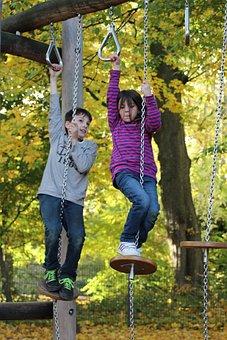 Children, Play, Girl, Leisure, Boy, Out, Playground