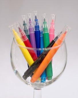 Colorful, Pens, Colored Pencils, Color, Paint, Draw