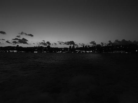 Dark, Istanbul, Besiktasta, V, Clouds, Turkey