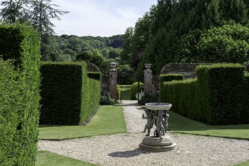 English Country Garden, Formal Yew Hedges