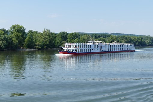 Danube, River, Hungary, River Cruise, Bank, Forest
