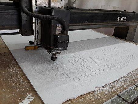 Cnc, Engraving, Machine, Technology, Industrial, Cut
