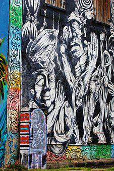 Street Art, City, Modern Art, Facade, Berlin, Light