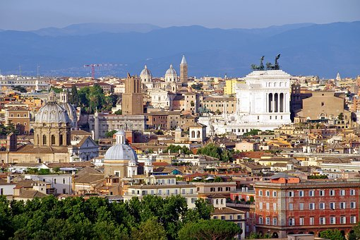Rome, Landscape, Victorian, Monument