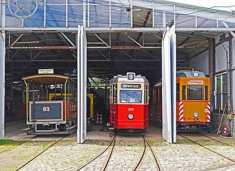 Hamburg Trams, Museum Depot, Schönberger Beach