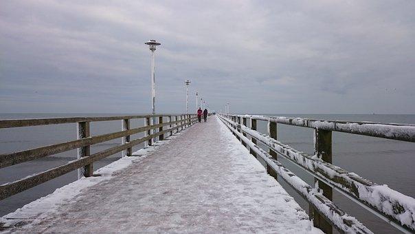 Bridge, Winter, Old Bridge, Snow, Nature, Web