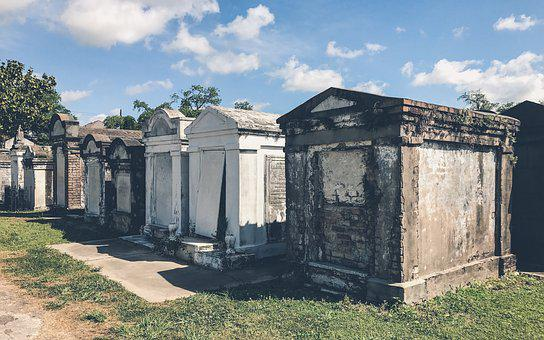 New Orleans, Cemetery, Outdoor, Graveyard