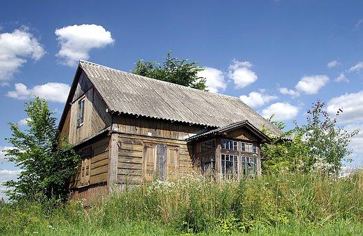 Cottage, Old House, Crash, Wooden, Village, Abandoned