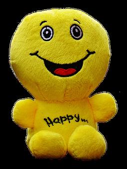 Smiley, Plush, Funny, Face, Cute, Emoticon, Yellow
