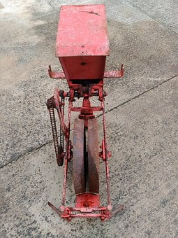 Seeder, Old, Old Machine, Oxide, Collector, Iron