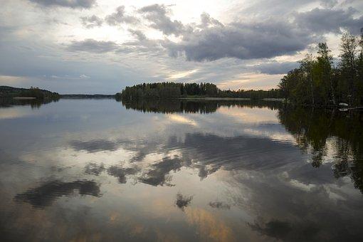 Summer Night, Lake, Landscape, Finnish