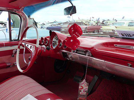 The Interior Finishes, Red, Car, Car Show, Summer