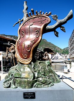Salvador Dali, Clock, Sculpture, Time, Surrealism