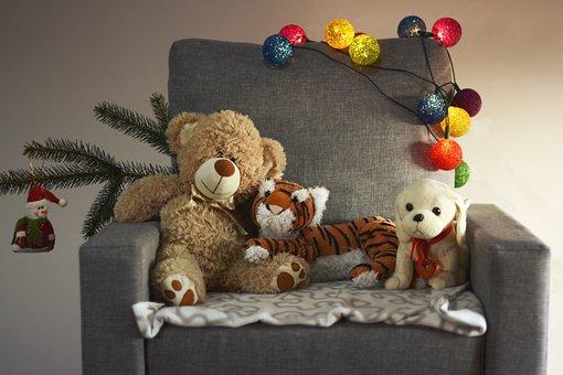 Armchair, Holidays, Toys, Bean Bag Plush, Child
