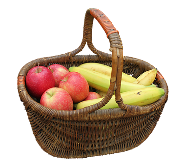 Basket, Hand Basket, Fruit, Bananas, Yellow, Fruits