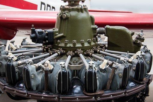 Wedenejew M 14, 9 Cylinder Radial Engine, Air Cooled