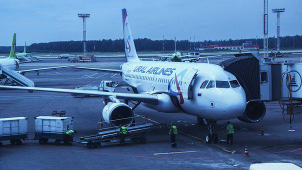 Airport, Domodedovo, Moscow, Russia, Plane, Boing