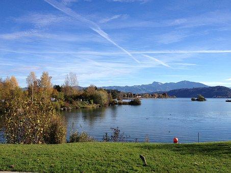 Lake Zurich, Switzerland, View, Sanderson, Autumn