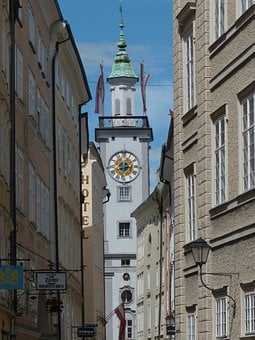 Town Hall, Town Hall Tower, Salzburg, Clock Tower