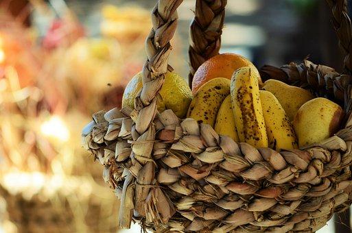 Fruit, Fruit Basket, Wicker