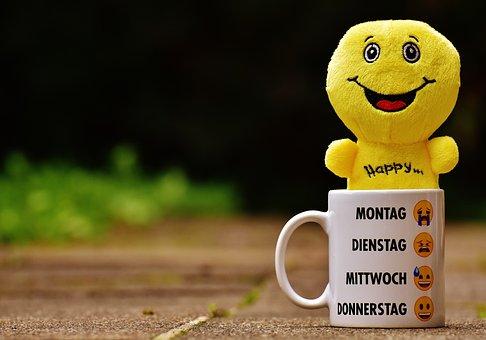 Still Laugh, Smilies, Cup, Yellow, Funny, Joy, Emoticon