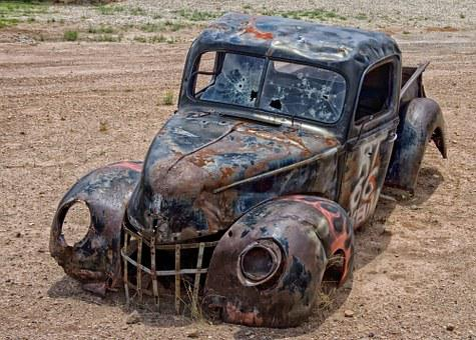 Pickup Truck, Junk, Arizona, Desert, Oldster, Heap