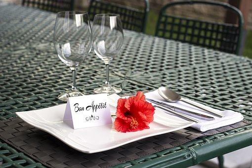 Table, Setting, Bon Appetit, Dinner, Plate, Elegant