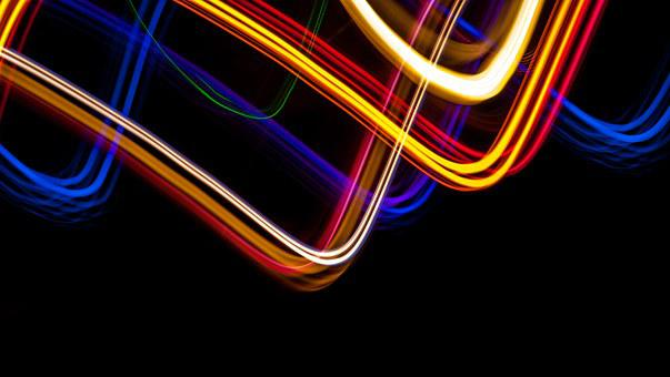 Light Painting, Blue, Red, Red Yellow, Yellow, Features