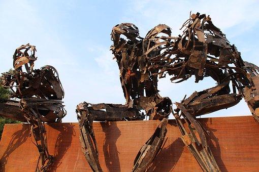 Rusty Robot, Osnago, Italy, Sculpture, Contemporary Art