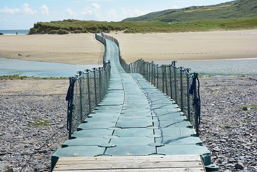 Web, Floating Jetty, Ireland, Beach, Sand Beach, Sea