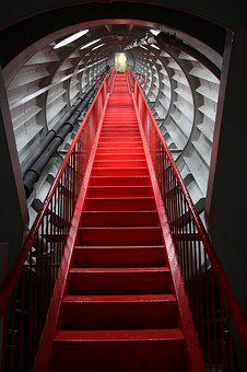 Stairs, Atomium, Brussels, Staircase, World's Fair