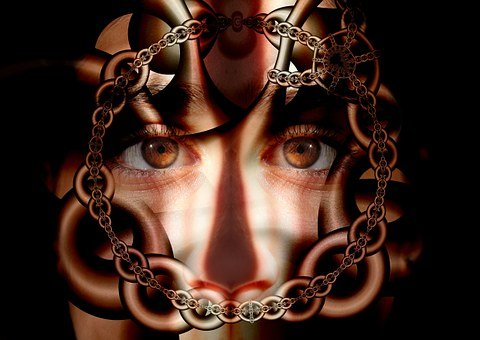 Chains, Caught, Psyche, Man, Patient, Eyes, Suffering