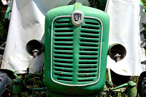Old Tractor, Tractor, Bulldog, Agricultural Machine