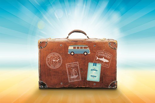 Luggage, Holiday, Travel, Summer, Sea, Sun, Recovery