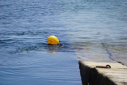 Float, Water, Blue, Sea, Blue Water, Beacon, Buoy