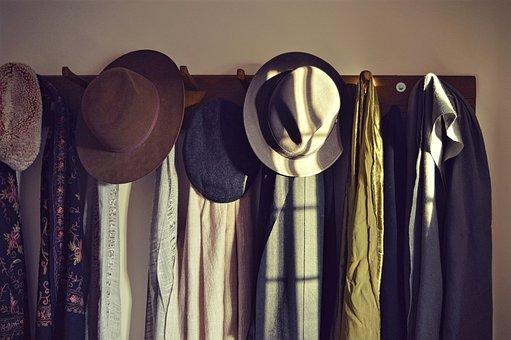 Hats, Scarves, Visitors, Retro, Fabrics, Hall