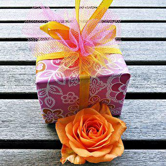 Made, Gift, Packaging, Wrapping Paper, Loop, Flower