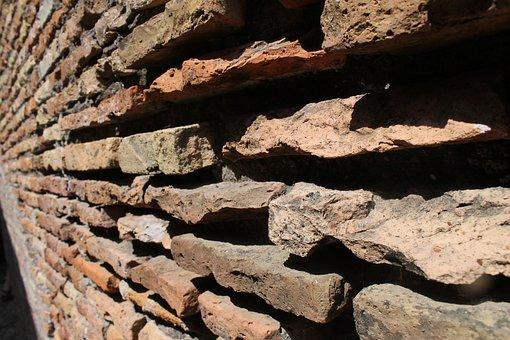 Ostia, Italy, History, Wall, Brick