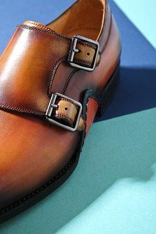 Leather Shoes, Color, Split, Line, Fashion, Retro