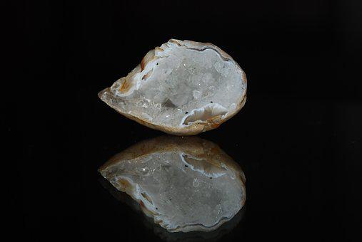 Calcite Geode, Calcite, Geode, White, Mineral, Stone