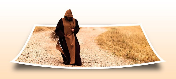 Photo, Monk, Memory, Middle Ages, Field, Work, Away
