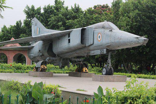 Old Jet, Fighter Plane, Indian Air Force, Green Plane