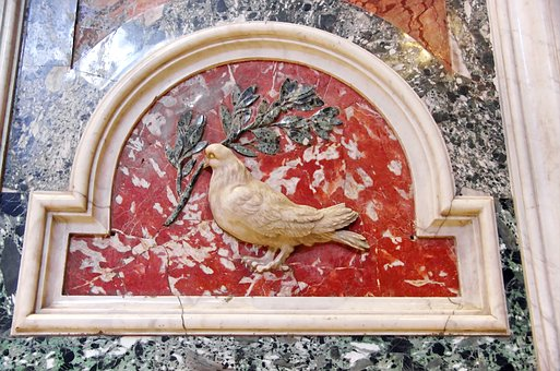 Italy, Rome, St-pierre, Basilica, Marble, Dove, Olivier