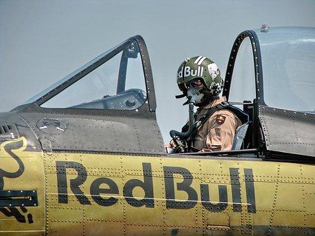 Plane, Pilot, Cockpit, Oxygen Mask, Retro Design